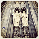 Germany, Cologne Cathedral, figures at main poortal - GW003611