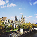 Germany, Cologne, cityscape with Cathedral - GWF003619