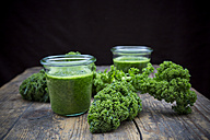 Two glasses of kale smoothie - LVF002616