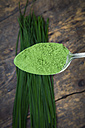 Spoon of wheatgrass powder - LVF002632