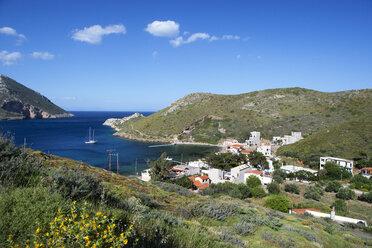 Greece, Porto Kagio, houses by the sea - WWF003523