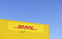 Germany, Neuss, logo of DHL - GUF000085