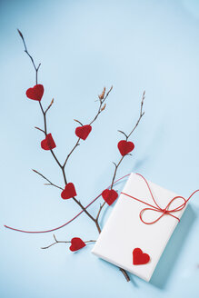 Valentine's Gift And Branch With Red Hearts - BZF000004