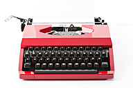 Old red typewriter - MAEF009489