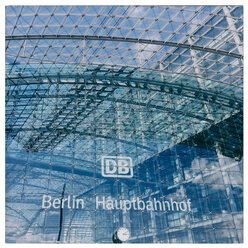 Germany, Berlin, Central station, glass front - KRP001233