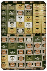 Germany, Stacked beer crates on pallets - KRP001208