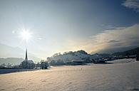 Austria, Tyrol, Wiesing, townscape in winter - MKFF000154