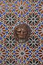 Spain, Andalusia, Tarifa, wall mosaic with lion head - KBF000308