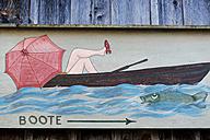 Germany, Upper Bavaria, Lake Starnberg, painting on wall - LB001019