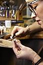 Goldsmith in workshop at work - EDF000094