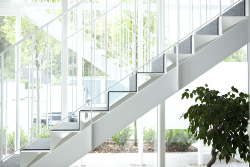 Empty staircase in an office building - MFRF000001
