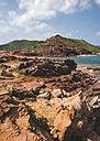 Spain, Balearic Islands, Menorca, Pregonda beach, Cala Pregonda - RAEF000032