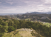 Spain, Asturias, view of Picos de Europa mountains from Mirador del Fito - RAEF000026