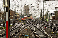 Germany, Cologne, commuter line driving to main station - WG000596