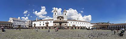 Ecuador, Quito, Plaza de San Francisco and Church and Monastery of St. Francis - FOF007618