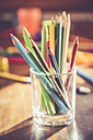 Glass of coloured pencils - SARF001303