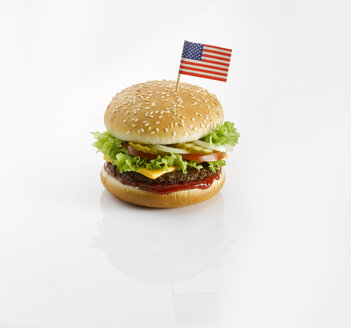Burger with American flag - KSWF001414