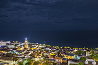 Mexico, Puerto Vallarta, downtown at night - ABAF001623