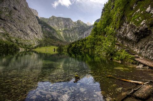 Germany, Bavaria, Berchtesgaden, Lake Obersee near Koenigssee - ZC000197