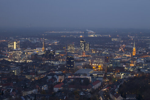 Germany, Dortmund, view from the television tower to the city center - WI001380