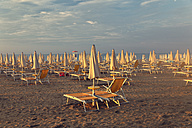 Italy, Lignano Sabbiadoro, sunrise on the beach - GF000561