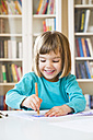 Little girl drawing - LVF002767