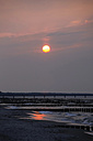 Germany, Mecklenburg-Western Pomerania, Fischland-Darss-Zingst, beach at sunset - JTF000627