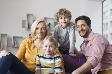 Portrait of happy family at home - RBF002402