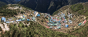 Nepal, Khumbu, Everest region, View to Namche Bazaar - ALRF000003