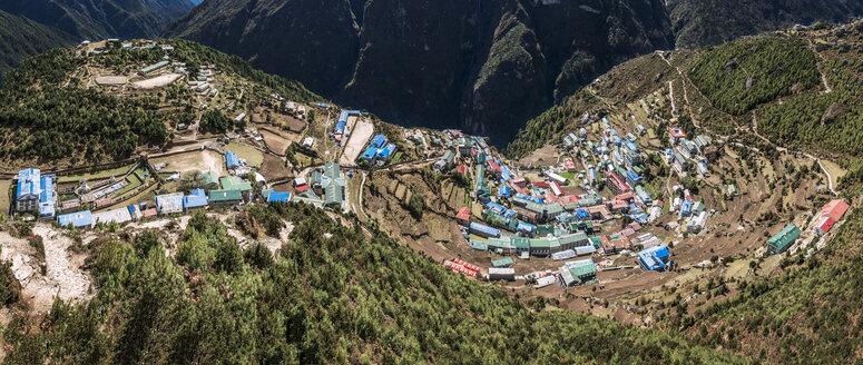 Nepal, Khumbu, Everest region, View to Namche Bazaar - ALRF000003