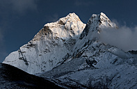 Nepal, Khumbu, Everest region, Ama Dablam by moonlight - ALRF000075