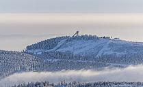 Germany, Saxony-Anhalt, Harz National Park, Mountain Wurmberg and ski jump - PVC000261