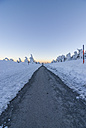 Germany, Saxony-Anhalt, Harz National Park, hiking trail in winter - PVCF000268