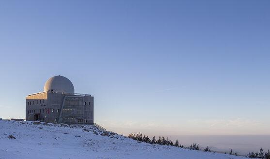 Germany, Saxony-Anhalt, Harz National Park, Information Centre Brocken House in winter - PVCF000265