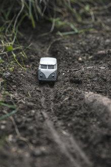 Small metal toy Volkswagen transporter in nature - DEGF000116
