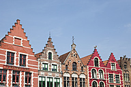 Belgium, Bruges, row of houses at Grand Place - GW003781