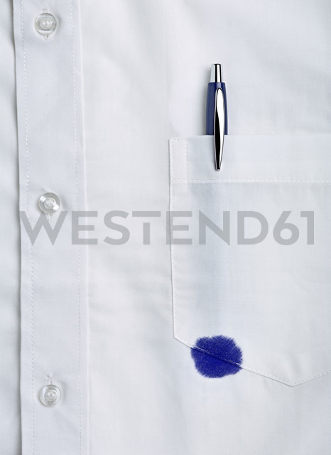 White shirt with a pen stain - RAMF000055