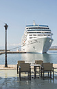 Greece, cruise liner moored at harbour - DEGF000146