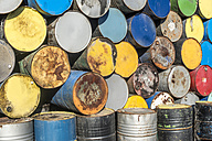 Bulgaria, pile of oil drums - DEGF000284