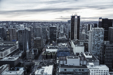 Canada, Vancouver, cityscape as seen from Harbour Centre - NGF000227