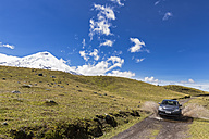 South America, Ecuador, Volcano Cotopaxi, Cotopaxi National Park, Jeep on road - FOF007679