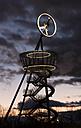 Germany, Baden-Wuerttemberg, Weil am Rhein, Vitra Slide Tower by Carsten Hoeller in the evening - FC000630
