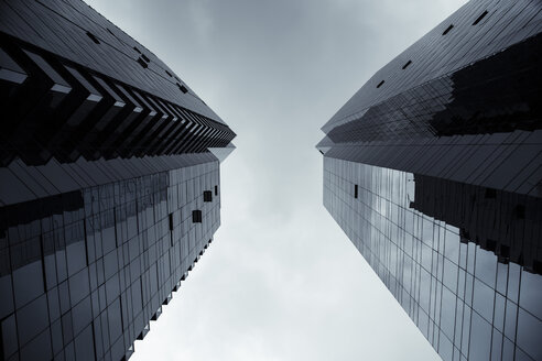 Canada, Vancouver, facades of two modern office buildings at financial district - NG000235