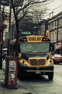 Canada, British Columbia, Vancouver, Chinatown, School bus - NG000240