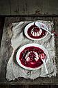 Panna Cotta with raspberry sauce - SBDF001675