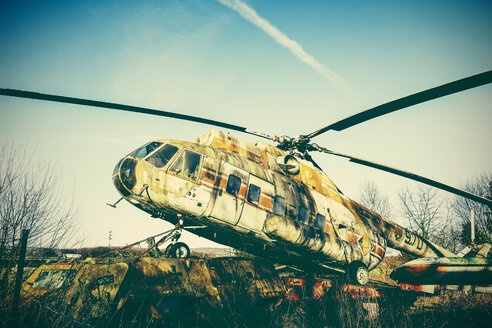 Germany, Bad Oeynhausen, decommissioned military helicopter - HOH001265