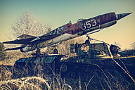 Germany, Bad Oeynhausen, decommissioned military airplane - HOH001273