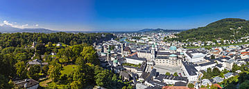 Austria, Salzburg, View of historical old town from Hohensalzburg Fortress - AMF003821