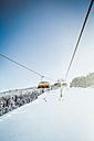 Austria, Salzburg State, Region Hochkoenig in winter, Ski Amade, ski lift - DISF001408