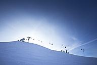 Austria, Salzburg State, Region Hochkoenig in winter, Ski Amade, ski lift - DISF001412